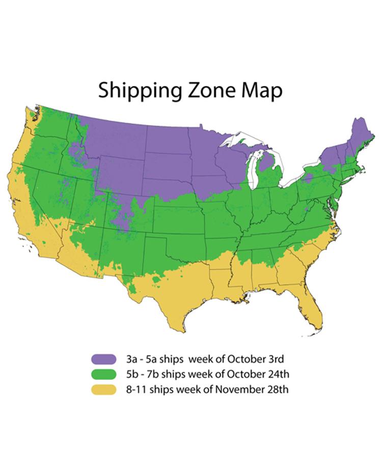 Fall Zone Shipping Schedule
