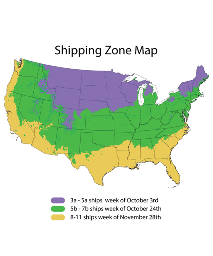 Fall Zone Shipping Schedule